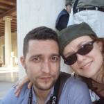 Roberto con su hermana Loli