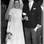 Se casaron el 5 de Junio de 1968