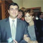 Monica con su marido