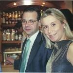 Con Mateo su marido