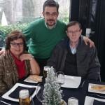 Kiko con sus padres en año nuevo de 2014