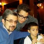 Kiko con sus 2 hijos varones; kiko junior y Alvaro
